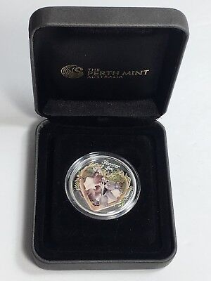 2012 Australia  50c Forever Love Koala 1/2oz Silver Proof Coin