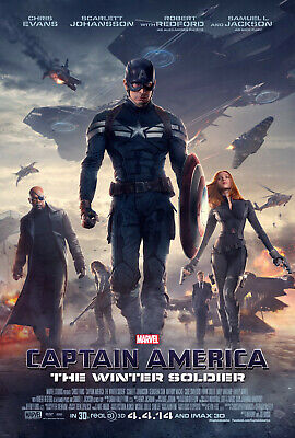 """THE WINTER SOLDIER"" CAPTAIN AMERICA  Original Final DS 27x40 Movie Poster"