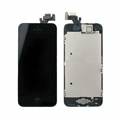 Black For Apple iPhone 5 LCD Screen Digitizer Replacement + Home Button Camera