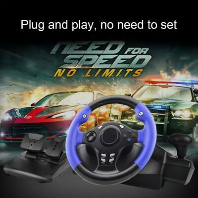 Window PC PS3 PS4 Xbox One Switch Racing Game Steering Wheel with Brake Pedal