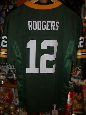 9e1f2810 NEW AARON RODGERS style #12 green bay packers youth XL Jersey white ...