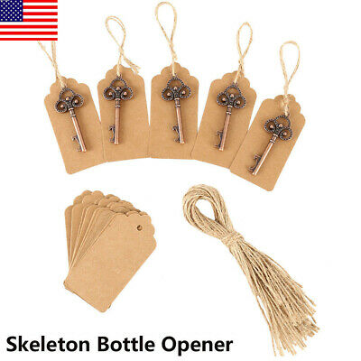 US Vintage Metal Skeleton KeyShape Opener Beer Bottle Bridal Wedding Party Favor
