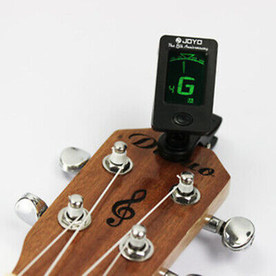 Universal LCD Clip-On Electric Guitar Tuner Violin Ukulele Tap Tempo Metronome