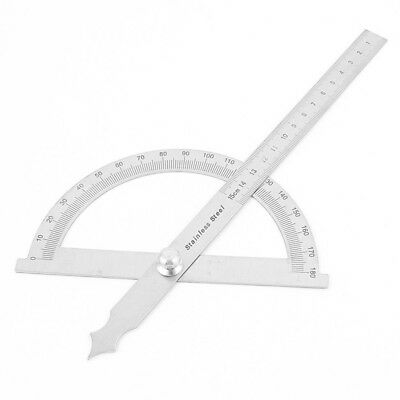 Carpenter Architect Stainless Steel Rotary Protractor Angle Ruler G1Y4