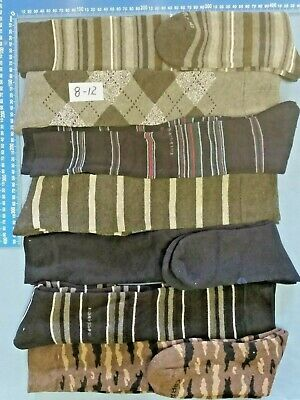 5 Pairs Mens Long Knee High Thick heavy Duty Cotton Work Boot Socks Size 8-12