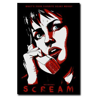Scream 12x18inch Classic Horror Movie Silk Poster Hot Wall Decoration