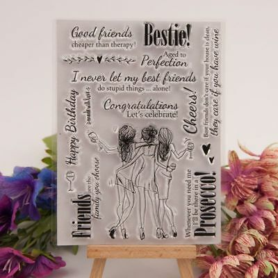 Transparent Silicone Best Friends Stamp Set for Card Making/scrapbooking