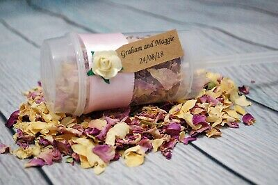 Biodegradable Satin Ribbon Confetti Poppers Personalised Rustic Classic Wedding