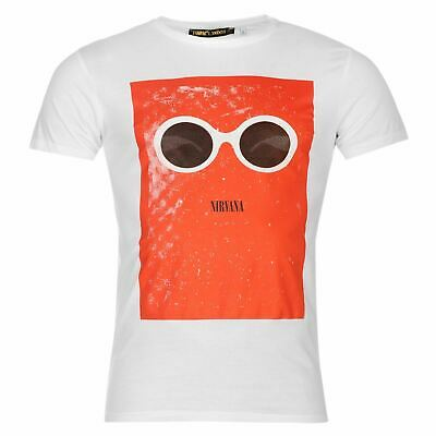 Cobain Nirvana Sunglasses T-Shirt Mens Black Tee Shirt Top