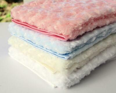 Rose Fluffy Soft Blanket Embroidered Personalised Gift New Baby  Fast Dispatch!