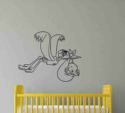 Stork Dumbo Wall Decal Walt Disney Vinyl Sticker Poster