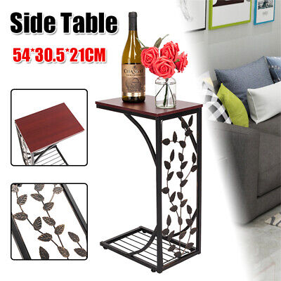 C Shaped Sofa Side Table Coffee Tray End Lap Stand Tv Snack Couch Living Room