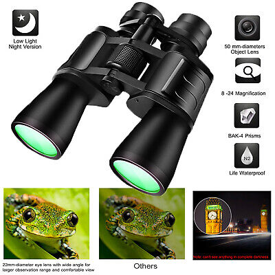 180 x 100 Zoom Day Night Vision Outdoor Travel Binoculars Hunting Telescope+Case