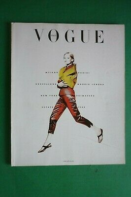 VOGUE Italia supplemento Gennaio 1989 n.465 Primavera Estate Paris Milano London