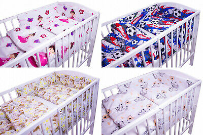 BABY BEDDING SET 2 3 5 6 PCS PILLOW CASE COVER QUILT DUVET TO FIT 140x70 COT BED