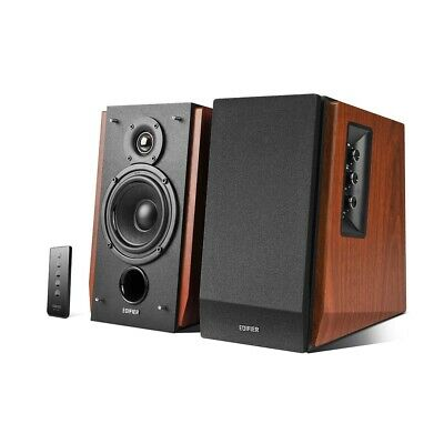 Edifier R1700BT 2.0 Lifestyle Bookshelf Bluetooth Studio Speakers Brown