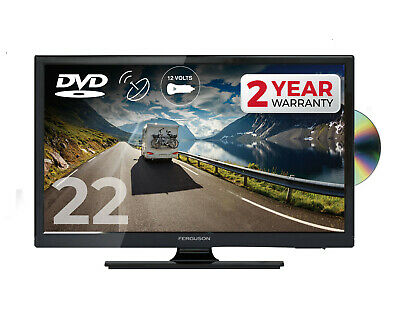 "FERGUSON 22"" INCH 12 volt LED TV DVD FREEVIEW HD & SAT, HDMI 1080P CARAVAN 12v"