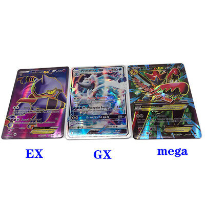20GX+20EX+20mega Cards For Pokemon cards Holo Flash Card Kid Toy