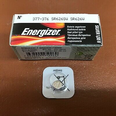 NEW Energizer 377 D377 AG4 SR66 SR626SW Watch Batteries SILVER OXIDE