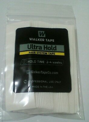 """Walker Ultra Hold Tape Straight Strip Wigs and Toupees 1""""x 3'' (36 Pcs)"""