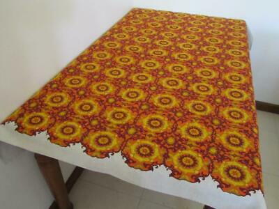 RETRO Vintage Linen TABLECLOTH