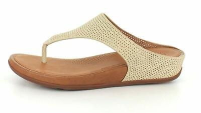 1b757a81151e FITFLOP WOMENS BANDA Perforated Thong Sandal Shoes