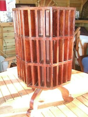 Beautiful Hardwood Octagonal Sectional Table/Stand. Rotates. Religious  Indian ?