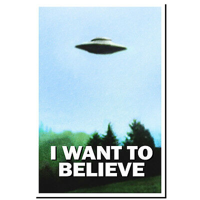 X-FILES I WANT TO BELIEVE tv show framed canvas Poster Print Decal Sticker