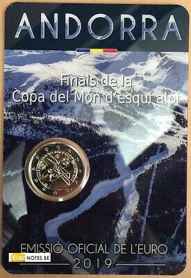 Andorra 2019 2 euro commemorative Final World Cup Alpine Skiing BU FDC Coincard