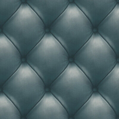 3D Leather Wall Wallpaper Padded Blue Grey   Washable Deco4Walls EW3001