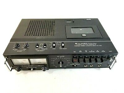 JVC CD-1636 Portable  Professional Stereo Cassette Recorder ANRS Hifi Tested