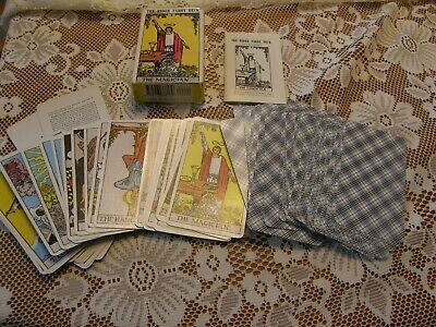 Vintage Tarot Cards THE RIDER TAROT DECK - complete/instruction booklet