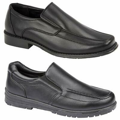 Boys Faux Leather School Shoes Kids Smart Wedding Formal Back To School Shoes