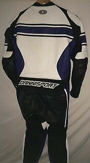 motorcycle racing 1pc suit yamaha blue size 46 uk REDUCED TO CLEAR £200