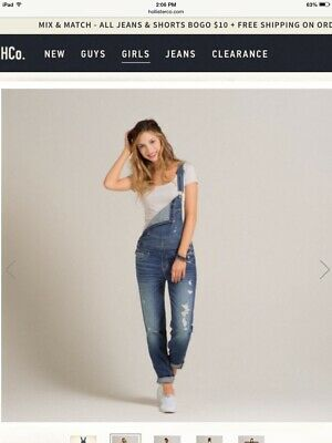 06bd975a4f7 ANTHROPOLOGIE LEVEL 99 Lily New Fit Soft Denim Overalls sz.Large ...