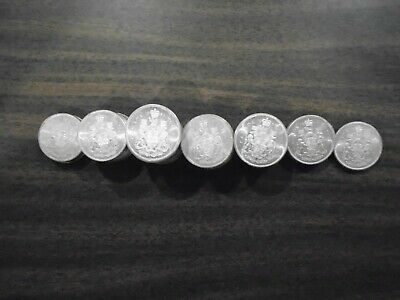 1961 - 1966 Canadian Silver 50 Cent Coin Uncirculated (Single Coin)