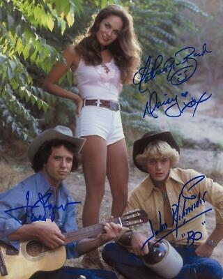 Catherine Bach Tom Wopat Dukes of Hazzard Signed Preprint 8x10 Photo (CF-1)