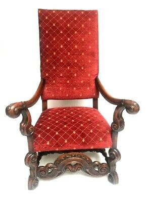 19th Century French Carved Walnut Armchair - FREE Shipping [PL650N]