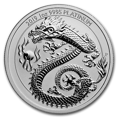 SPECIAL PRICE! 2019 Australia 1 oz Platinum Dragon BU - SKU #188378