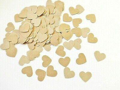 Natural Hearts 1 Inch Embellishments Kraft Card Making Party Decor Paper Craft