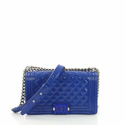 9e94db346c3e CHANEL BOY FLAP Bag Quilted Plexiglass Patent Old Medium -  3