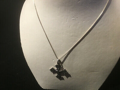 Boma 925 Sterling Silver Cross Pendant On Chain Necklace
