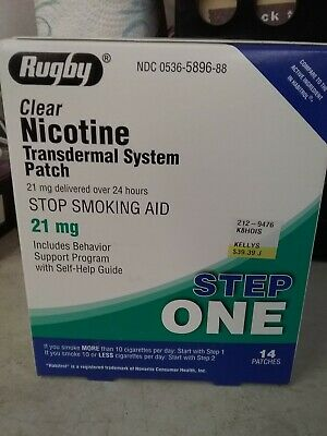 RUGBY Clear Nicotine Transdermal System Patch - Step ONE (21 mg / 14 patches)