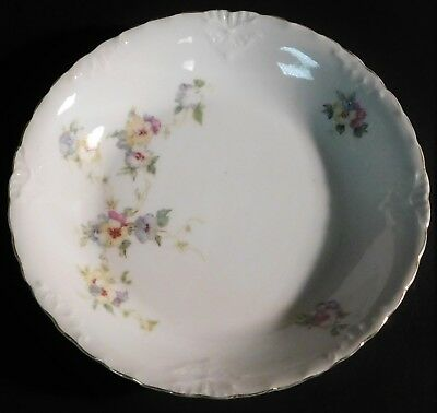 Herman Ohmne Silesia Germany China Soup Cereal Bowl Dish Floral Gold Trim