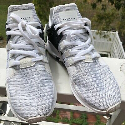 8ecc175a3 Adidas Equipment Support Advanced Running Shoes Mens White BB1296 Size 9.5