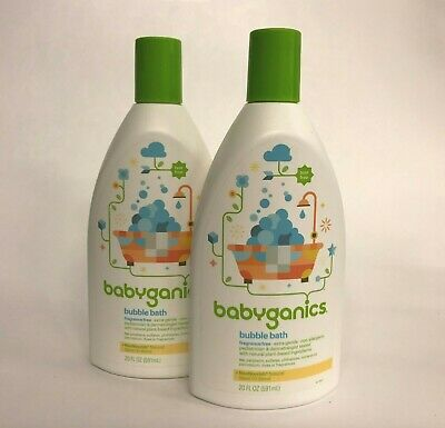 Babyganics Baby Bubble Bath, Fragrance Free, 20 oz Bottle, 2 PACK