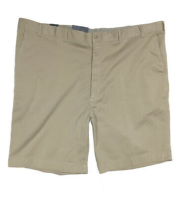 """Cremieux Big Man Flat Front Casual Cotton Garment Dyed Shorts 10"""" New"""
