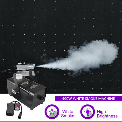 Portable 400W Remote White Smoke Fog Machine for DJ Party Stage Lighting Effect