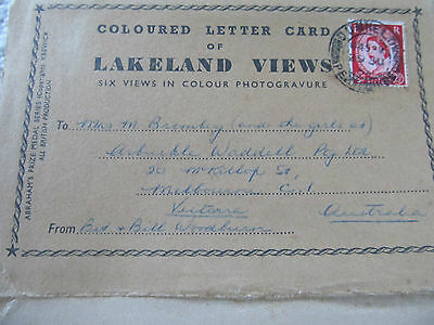 Vintage View Folder Abraham's Foldout lettercard of Lakeland Views UK circa 1954