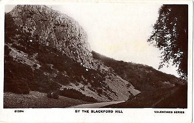 Vintage UK Valentines Postcard By the Blackford Hill - used